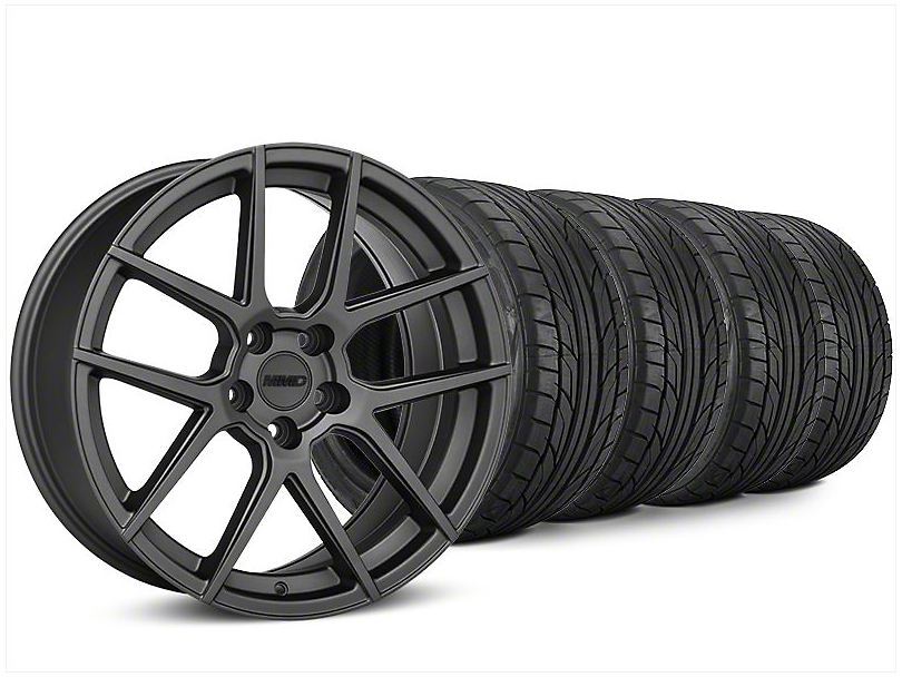 Staggered MMD Zeven Charcoal Wheel & NITTO NT555 G2 Tire Kit - 20x8.5/10 (15-18 All)