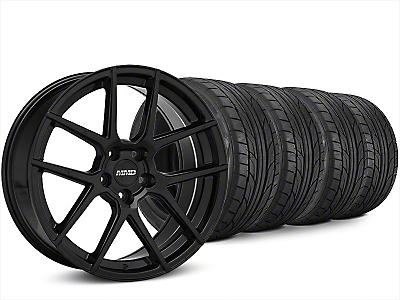 Staggered MMD Zeven Black Wheel & NITTO NT555 G2 Tire Kit - 20x8.5/10 (15-18 All)