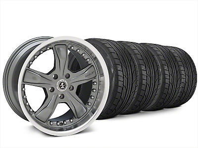 Staggered Shelby Razor Gunmetal Wheel & NITTO NT555 G2 Tire Kit - 20x9/10 (15-17 All)