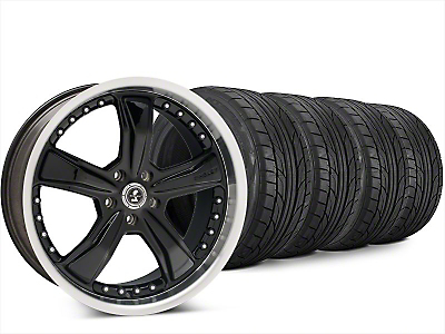 Staggered Shelby Razor Black Wheel & NITTO NT555 G2 Tire Kit - 20x9/10 (15-19 All)