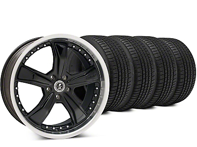 Staggered Shelby Razor Black Wheel & Michelin Pilot Sport A/S 3+ Tire Kit - 20x9/10 (15-18 All)