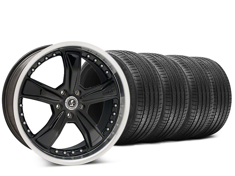 Staggered Shelby Razor Black Wheel & Sumitomo HTR Z III Tire Kit - 20x9 (15-17 All)