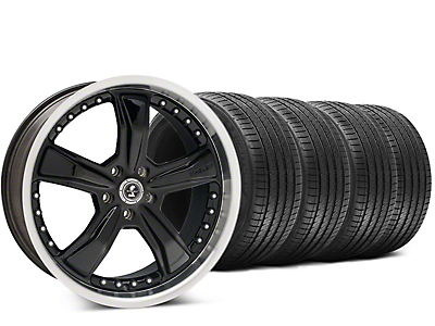 Staggered Shelby Razor Black Wheel & Sumitomo HTR Z III Tire Kit - 20x9 (15-18 GT, EcoBoost, V6)