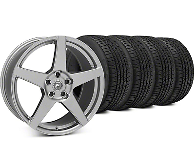 Staggered Forgestar CF5 Gunmetal Wheel & Michelin Pilot Sport A/S 3+ Tire Kit - 19x9/10 (15-18 All)