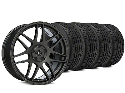 Staggered Forgestar F14 Gunmetal Wheel & Michelin Pilot Sport A/S 3+ Tire Kit - 19x9/10 (15-18 All)