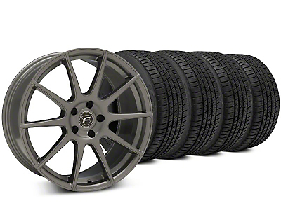 Staggered Forgestar CF10 Gunmetal Wheel & Michelin Pilot Sport A/S 3+ Tire Kit - 19x9/10 (15-18 All)