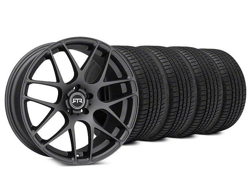 Staggered RTR Charcoal Wheel & Michelin Pilot Sport A/S 3+ Tire Kit - 19x8.5/10 (15-18 All)