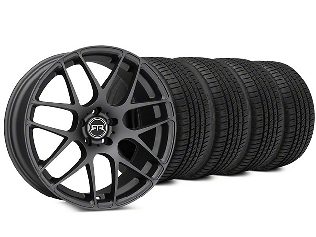 Staggered RTR Charcoal Wheel & Michelin Pilot Sport A/S 3+ Tire Kit - 20x9/10 (15-18 All)