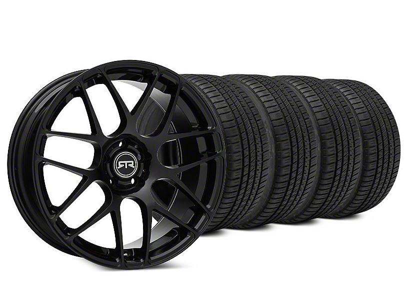 Staggered RTR Black Wheel & Michelin Pilot Sport A/S 3+ Tire Kit - 19x8.5/9.5 (15-18 All)