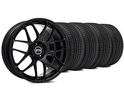Staggered RTR Black Wheel & Michelin Pilot Sport A/S 3+ Tire Kit - 19x9.5/10 (15-17 All)