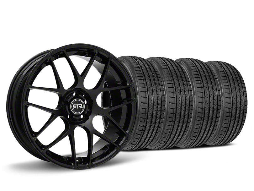 Staggered RTR Black Wheel & Sumitomo HTR Z III Tire Kit - 19x9.5 (15-17 All)