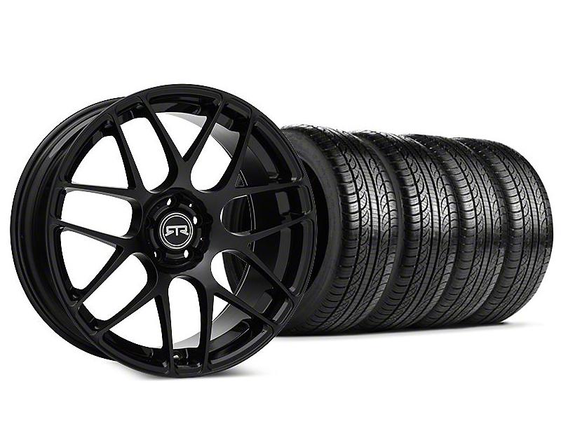 Staggered RTR Black Wheel & Pirelli P-Zero Nero Tire Kit - 19x9.5 (15-18 GT, EcoBoost, V6)