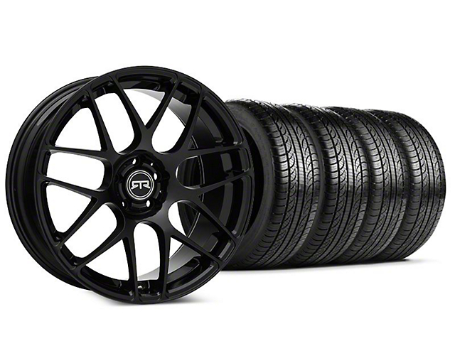 Staggered RTR Black Wheel & Pirelli P-Zero Nero Tire Kit - 19x9.5 (15-17 All)