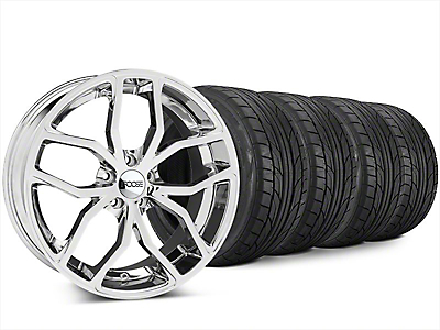 Staggered Foose Outcast Chrome Wheel & NITTO NT555 G2 Tire Kit - 20x8.5/10 (15-17 All)