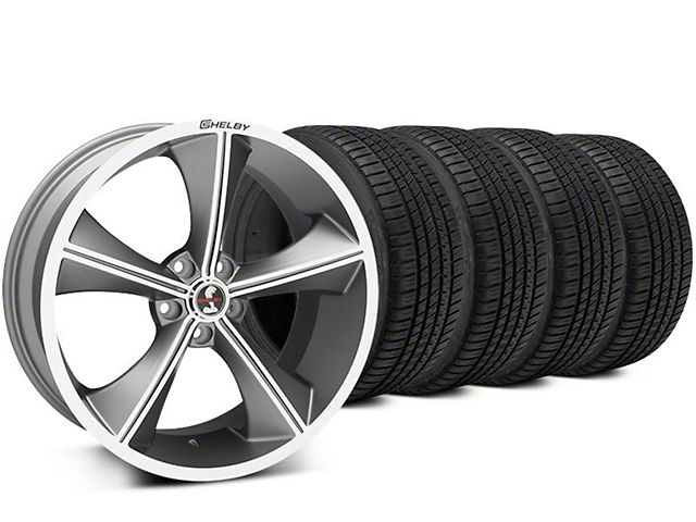 Staggered Shelby CS70 Gunmetal Wheel & Michelin Pilot Sport A/S 3+ Tire Kit - 20x9/10 (15-17 All)