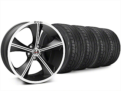 Staggered Shelby CS70 Matte Black Wheel & NITTO NT555 G2 Tire Kit - 20x9/10 (15-18 All)