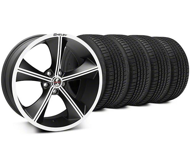 Staggered Shelby CS70 Matte Black Wheel & Michelin Pilot Sport A/S 3+ Tire Kit - 20x9/10 (15-17 All)