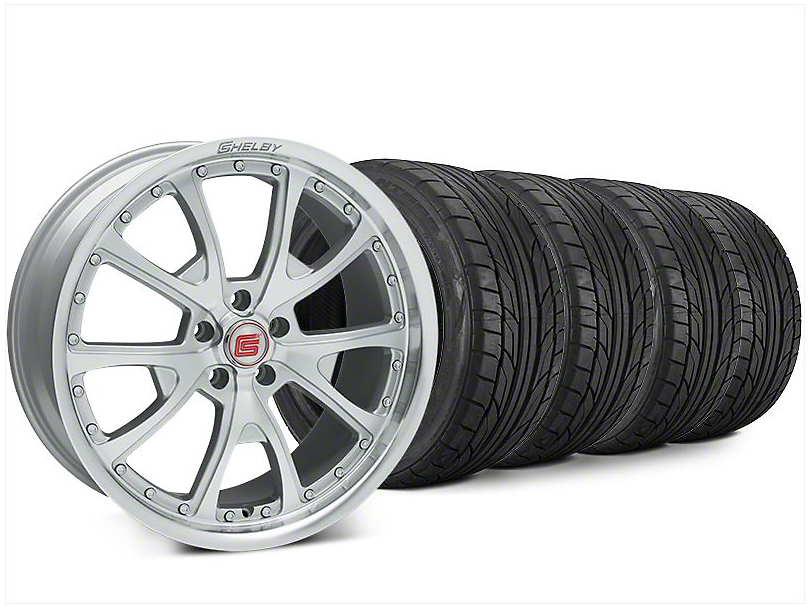 Staggered Shelby CS40 Silver Machined Wheel & NITTO NT555 G2 Tire Kit - 20x9/10 (15-17 All)