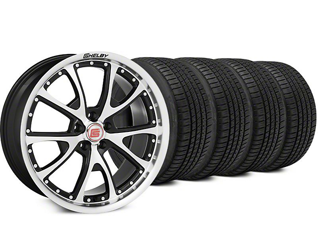 Staggered Shelby CS40 Black Machined Wheel & Michelin Pilot Sport A/S 3+ Tire Kit - 20x9/10 (15-17 All)