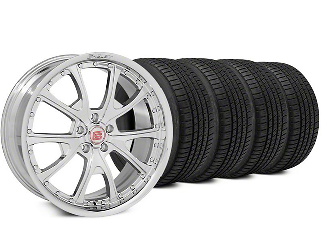 Staggered Shelby CS40 Chrome Wheel & Michelin Pilot Sport A/S 3+ Tire Kit - 20x9/10 (15-17 All)