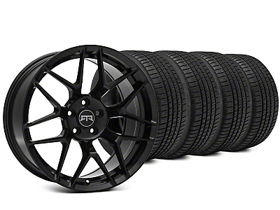 Staggered RTR Tech 7 Black Wheel & Michelin Pilot Sport A/S 3+ Tire Kit - 19x9.5/10.5 (15-17 All)