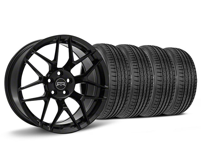 Staggered RTR Tech 7 Black Wheel & Sumitomo HTR Z III Tire Kit - 19x9.5 (15-19 GT, EcoBoost, V6)