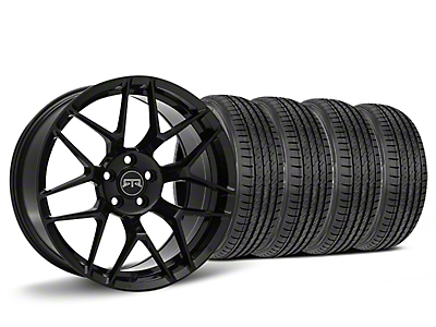 Staggered RTR Tech 7 Black Wheel & Sumitomo HTR Z III Tire Kit - 19x9.5 (15-18 GT, EcoBoost, V6)