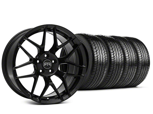 Staggered RTR Tech 7 Black Wheel & Pirelli P-Zero Nero Tire Kit - 19x9.5 (15-19 All)