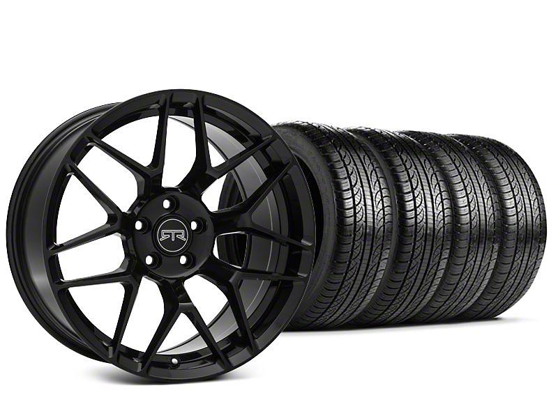 Staggered RTR Tech 7 Black Wheel & Pirelli P-Zero Nero Tire Kit - 19x9.5 (15-18 All)