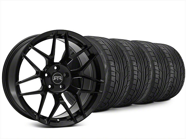 Staggered RTR Tech 7 Black Wheel & NITTO NT555 G2 Tire Kit - 20x9.5/10.5 (15-17 All)