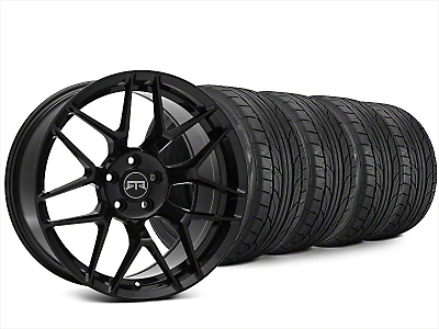 Staggered RTR Tech 7 Black Wheel & NITTO NT555 G2 Tire Kit - 20x9.5/10.5 (15-18 All)