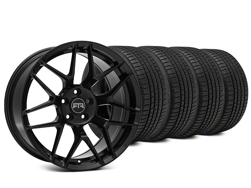 Staggered RTR Tech 7 Black Wheel & Michelin Pilot Sport A/S 3+ Tire Kit - 20x9.5/10.5 (15-18 All)