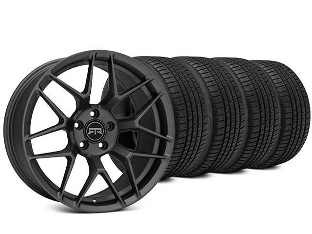 Staggered RTR Tech 7 Charcoal Wheel & Michelin Pilot Sport A/S 3+ Tire Kit - 19x9.5/10.5 (15-18 All)