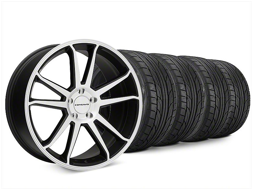 Staggered Concavo CW-S5 Matte Black Machined Wheel & NITTO NT555 G2 Tire Kit - 20x9/10.5 (15-17 All)