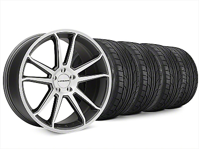 Staggered Concavo CW-S5 Matte Gray Machined Wheel & NITTO NT555 G2 Tire Kit - 20x9/10.5 (15-17 All)