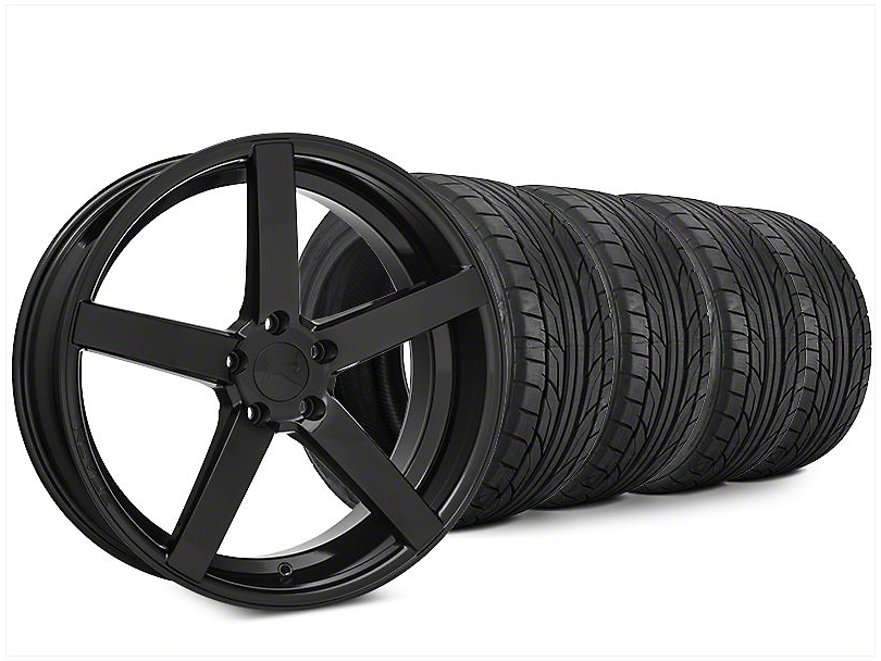 Staggered Rovos Durban Gloss Black Wheel & NITTO NT555 G2 Tire Kit - 20x8.5/10 (15-17 All)