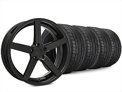 Staggered Rovos Durban Gloss Black Wheel & NITTO NT555 G2 Tire Kit - 20x8.5/10 (15-18 All)