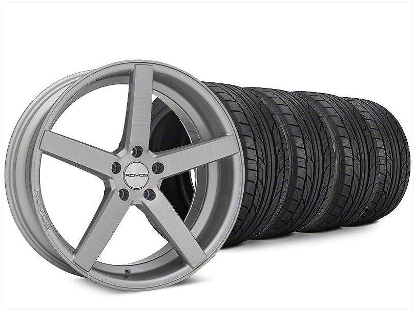 Staggered Rovos Durban Brushed Wheel & NITTO NT555 G2 Tire Kit - 20x8.5/10 (15-18 All)