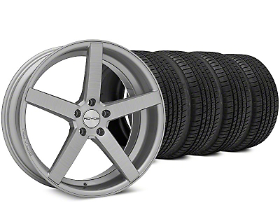 Staggered Rovos Durban Brushed Wheel & Michelin Pilot Sport A/S 3+ Tire Kit - 20x8.5/10 (15-17 All)