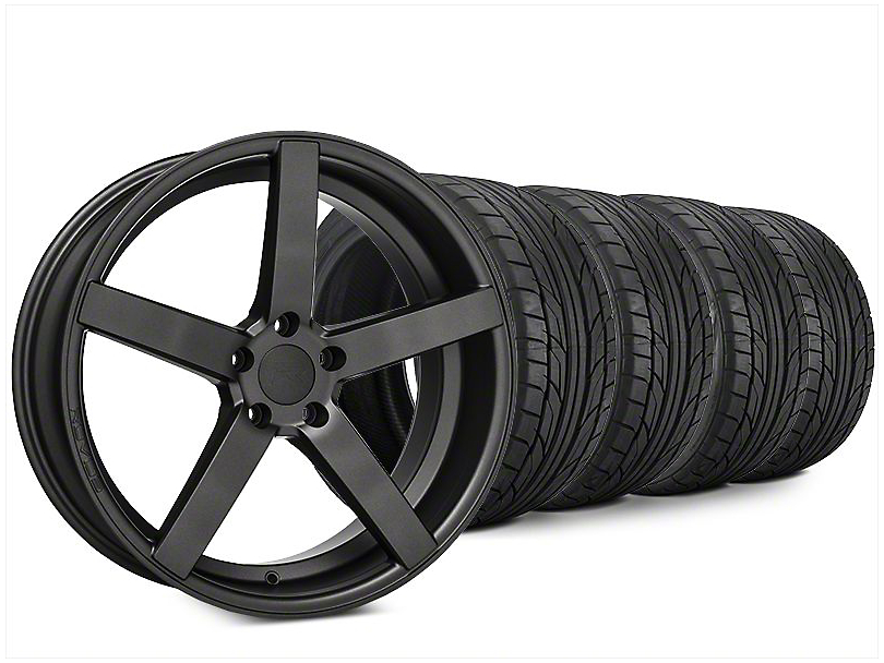Staggered Rovos Durban Satin Gunmetal & NITTO NT555 G2 Tire Kit - 20x8.5/10 (15-18 All)