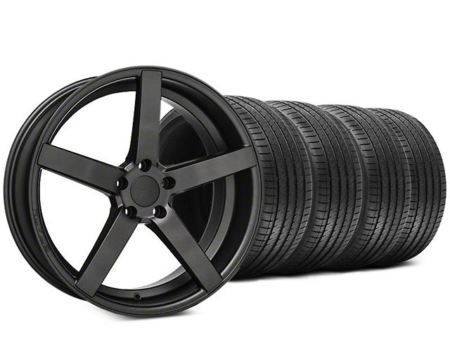 Staggered Rovos Durban Satin Gunmetal & Sumitomo HTR Z III Tire Kit - 20x8.5 (15-19 GT, EcoBoost, V6)