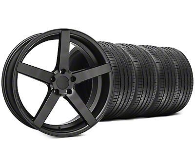 Staggered Rovos Durban Satin Gunmetal & Sumitomo HTR Z III Tire Kit - 20x8.5 (15-17 All)