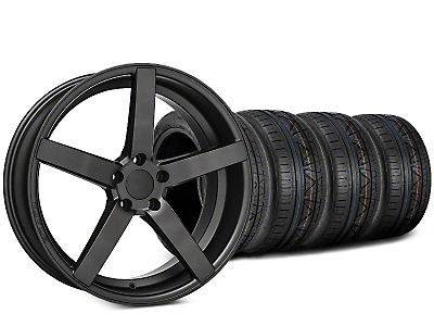 Staggered Rovos Durban Satin Gunmetal & NITTO INVO Tire Kit - 20x8.5 (15-17 All)