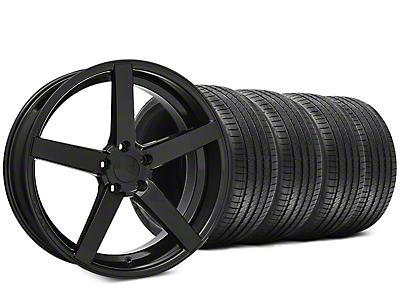 Staggered Rovos Durban Gloss Black & Sumitomo HTR Z III Tire Kit - 20x8.5 (15-17 All)