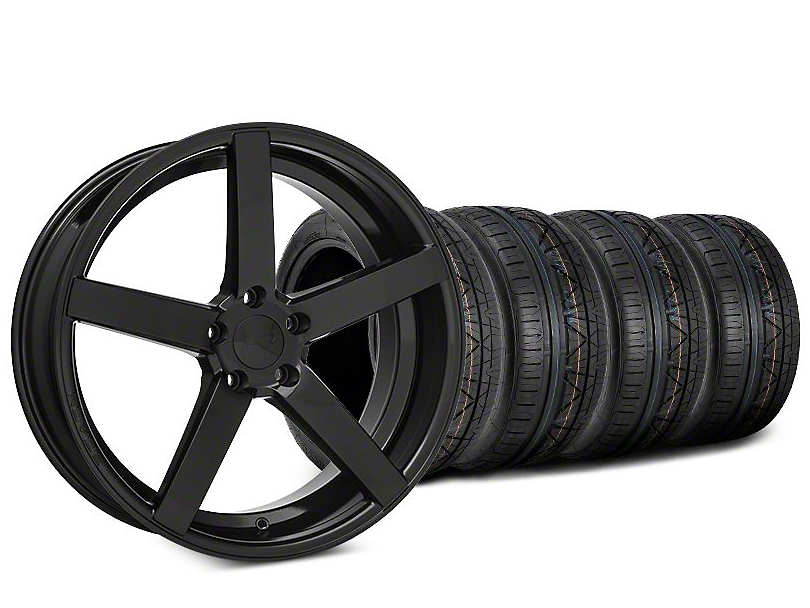 Staggered Rovos Durban Gloss Black & NITTO INVO Tire Kit - 20x8.5 (15-17 All)