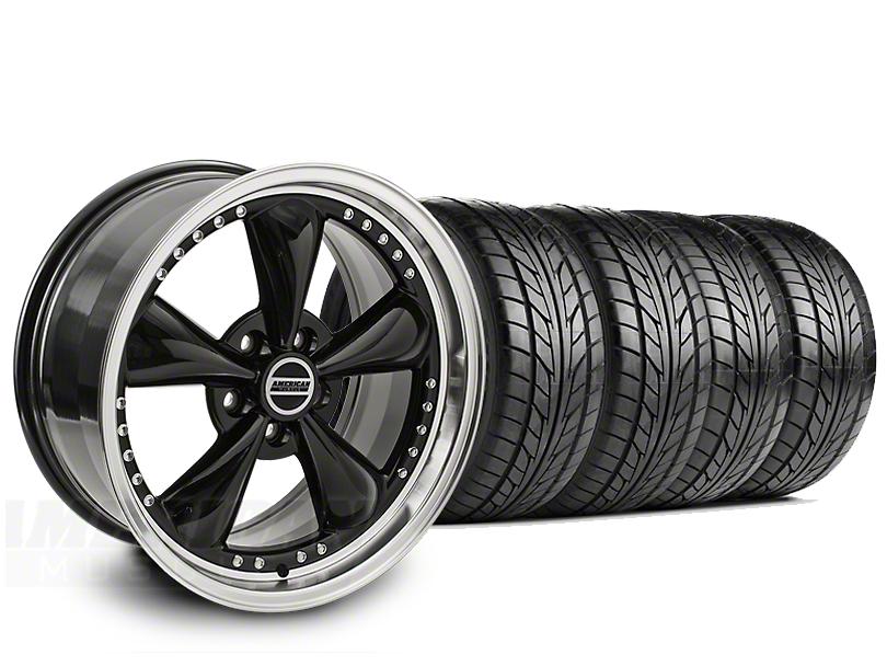 Bullitt Motorsport Black Wheel & NITTO G2 Tire Kit - 18x9 (99-04 All)