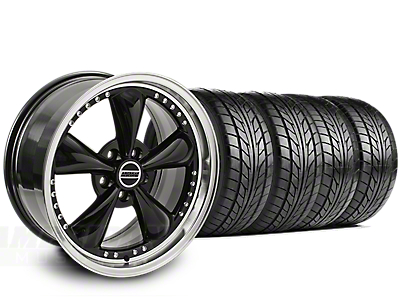 Bullitt Motorsport Black Wheel & NITTO G2 Tire Kit - 18x9 (99-04)