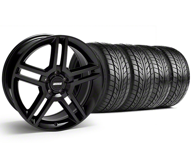 2010 GT500 Style Black Wheel & NITTO G2 Tire Kit - 18x9 (99-04)