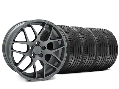 Staggered AMR Charcoal Wheel & Sumitomo HTR Z III Tire Kit - 20x8.5 (15-18 GT, EcoBoost, V6)