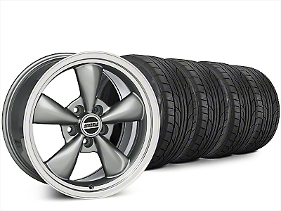 Staggered Bullitt Anthracite Wheel & NITTO NT555 G2 Tire Kit - 20x8.5/10 (15-17 EcoBoost, V6)